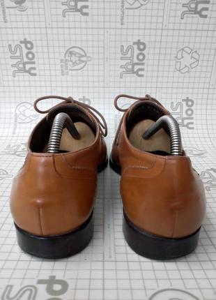 Adolfo carli италия туфли кожа светло-коричневые 42 р 28 см4 фото