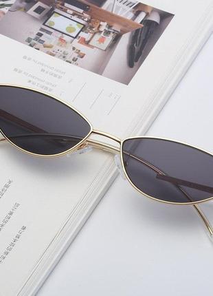 Солнцезащитные очки «кошачий глаз» женские, винтажные маленькие брендовые дизайнерские солнечные очки