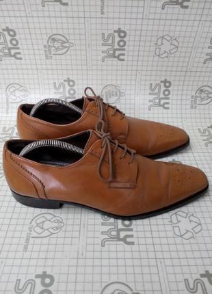 Adolfo carli италия туфли кожа светло-коричневые 42 р 28 см5 фото