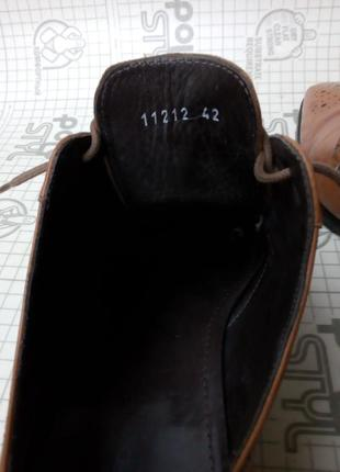 Adolfo carli италия туфли кожа светло-коричневые 42 р 28 см6 фото