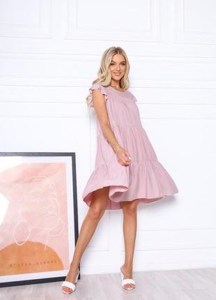 Лёгкое летнее платье свободного кроя