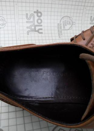 Adolfo carli италия туфли кожа светло-коричневые 42 р 28 см7 фото