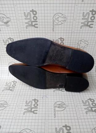 Adolfo carli италия туфли кожа светло-коричневые 42 р 28 см8 фото