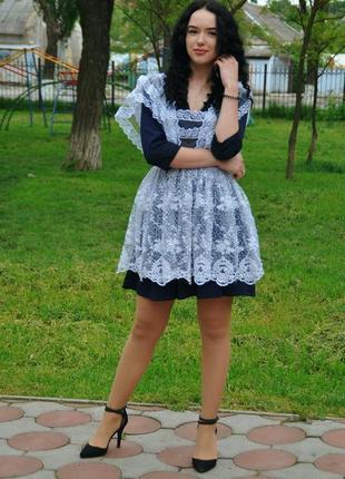 Школьная форма ( платье и фартук )