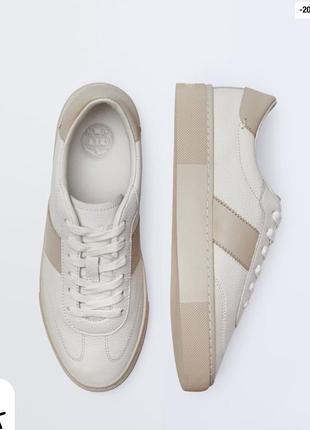 Кроссовки кеды кожаные на платформе massimo dutti оригинал кожа натуральная