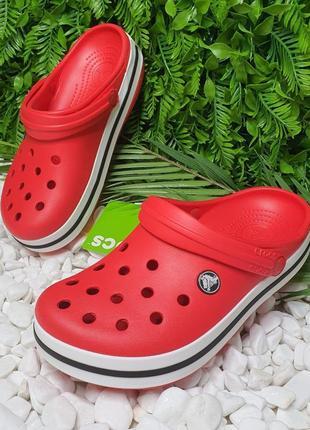 Кроксы crocs crocband красные