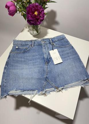 Zara джинсовая юбка мини