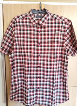 Рубашка в клетку/сорочка/тенниска