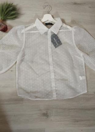 Біла прозора сорочка