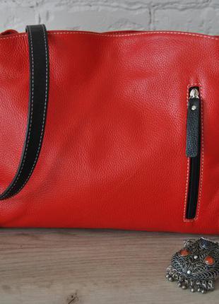 Кожаная сумка фирмы  vera pelle ,натуральная кожа, италия,новая