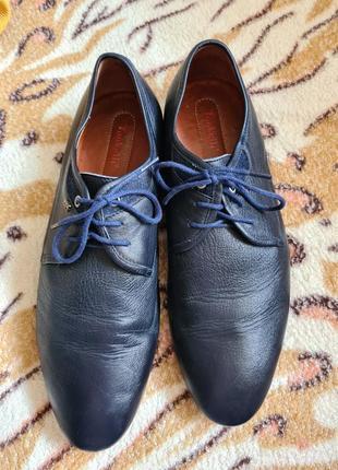 Туфли мужские кожаные туфли свадебные туфли синие