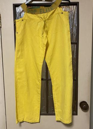 Оригинальные женские льняные брюки pop elit