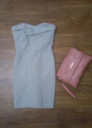 Бандо платье, плотное, по фигуре, утягивающее, бандажное topshop