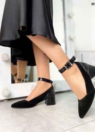 Замшеві туфлі з ремінцями замшевые туфли с ремешками лодочки с острым носиком