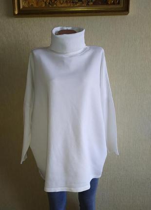 Стильный фирменный пуловер оверсайз, р.38