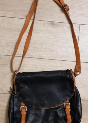 Брендовая кожаная сумка кроссбоди, сумка на плечо, через плечо, сумка натуральная кожа