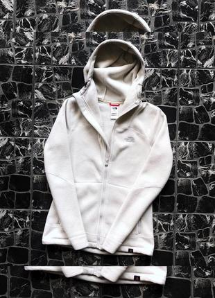 The north face women's zip hoodie fleece флісова кофта