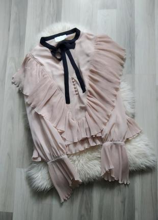 Шикарная блузка с воланами, оборками, рюшами