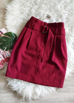 Акция! 1+1=3новая юбка с поясом miss selfridge