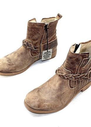 Ботинки 42 р yellow сab (пр-во) португалия кожа оригинал демисезон