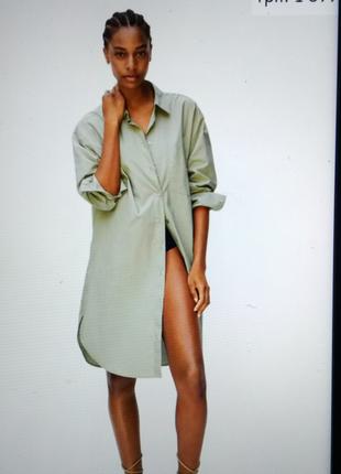 Платье рубашка 2021 mango