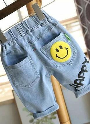 Дуже круті джинсові шорти, не тягнуться,  малюнок накат