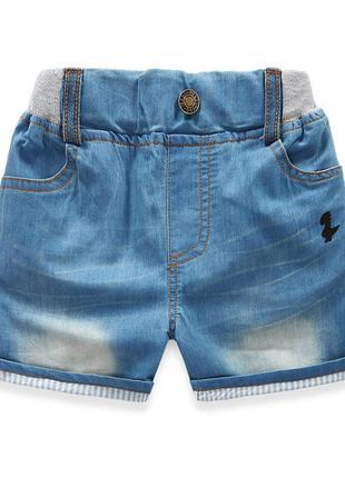 Класні шорти з літнього тоненького джинсу, не тягнуться, пояс - резинка