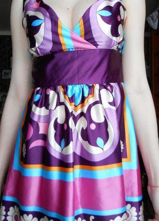 Брендовое платье в принт