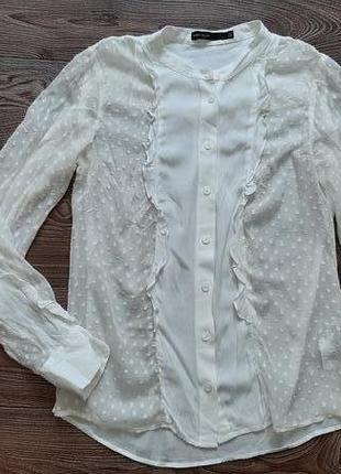 Блуза шёлковая с вискозой с длинным рукавом