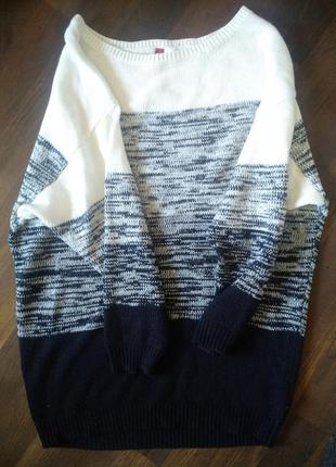 Черно белое вязаное платье h&m divided