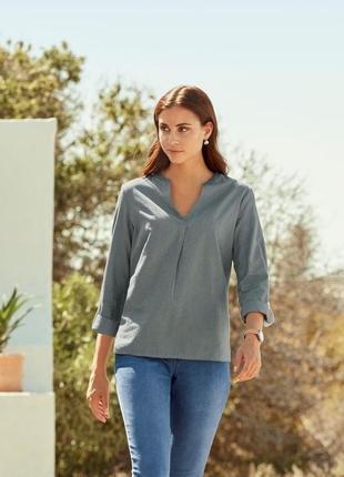 Шикарная блуза туника l 46 евро тсм tchibo.