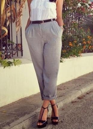 Льняные брюки на пышные формы