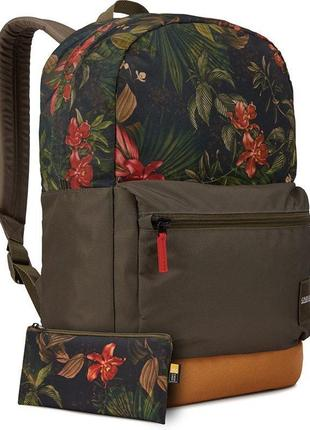 "Городской рюкзак case logic commence 24l 15.6"" multi floral/cumin (ccam-1116)"
