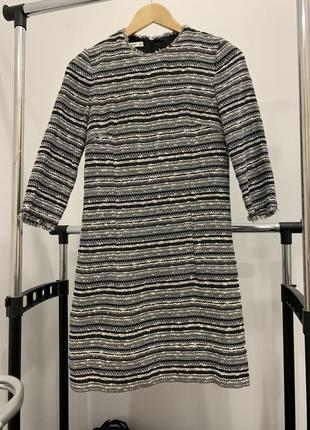 Твидовое легкое платье mango