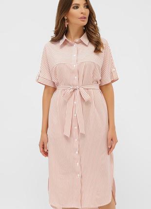 Платье - рубашка в полоску