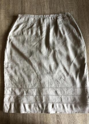 In wear льняна спідниця inwear на підкладці юбка льняная из льна лен