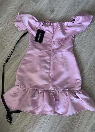Новое розовое платье с воланами, плаття, сукня, сарафан, платье