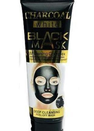 Маска для обличчя wokali charcoal black mask whitening complex