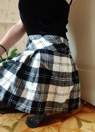 Мини-юбка шотландка