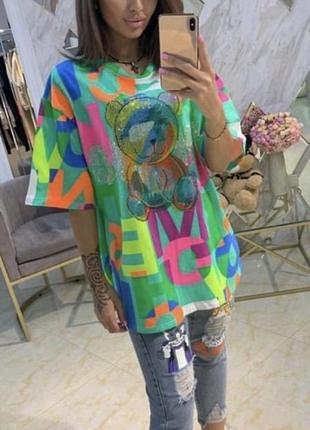 Разноцветная футболка турция