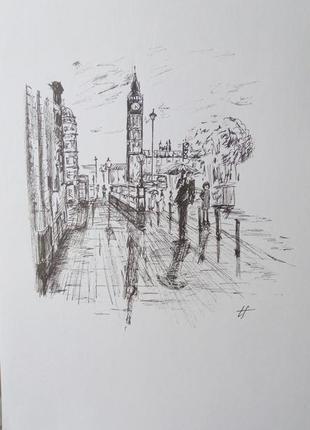 Картина графіка рисунок малюнок london лондон біг бен подарунок