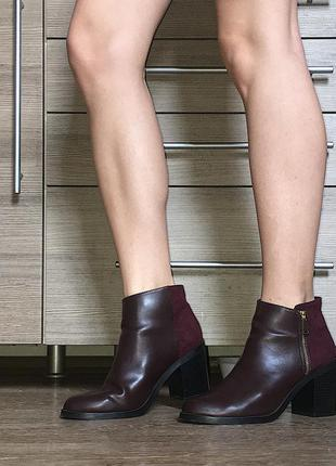Сапоги ботинки stradivarius