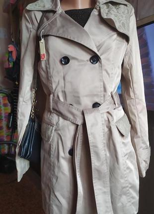 Тренч пальто с поясом р.л