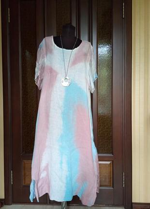 Платье   размера xl+ . лён. италия