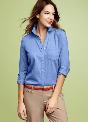 Стильная универсальная синяя рубашка gap  тренд