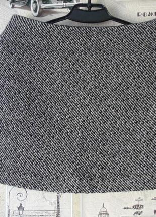 Мини юбка из шерсти gap, размер 8