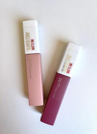 Жидкая матовая помада maybelline new york superstay matte ink liquid lipstick #5 loyalist, #15 lover