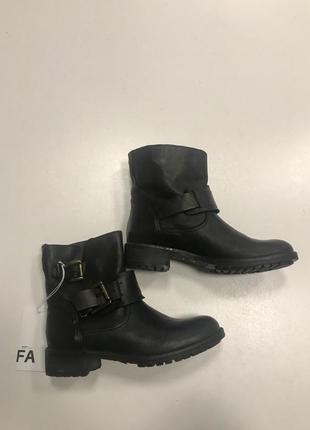 Ботинки черные baldinini кожа арт 4136