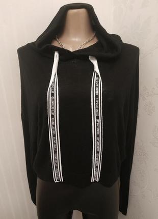 Свитшот свитер худи тонкая вязка в идеальном состоянии м- л