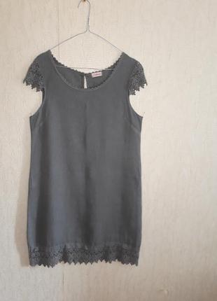 Итальянское платье прямой фасон 100% лён размер s m